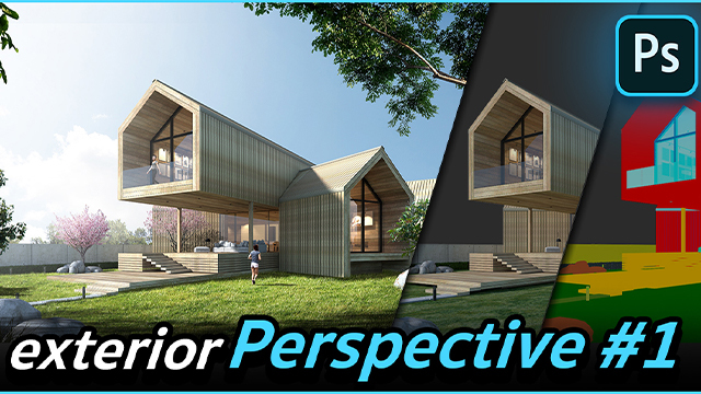 Photoshop for Architect : Exterior Perspective #1